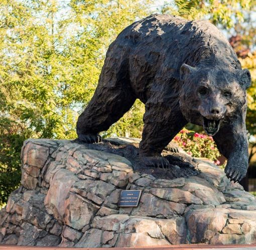 The Charge - LR bear sculpture